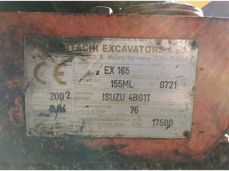 Tracks excavator FIAT HITACHI EX165 - Codimatra<br />