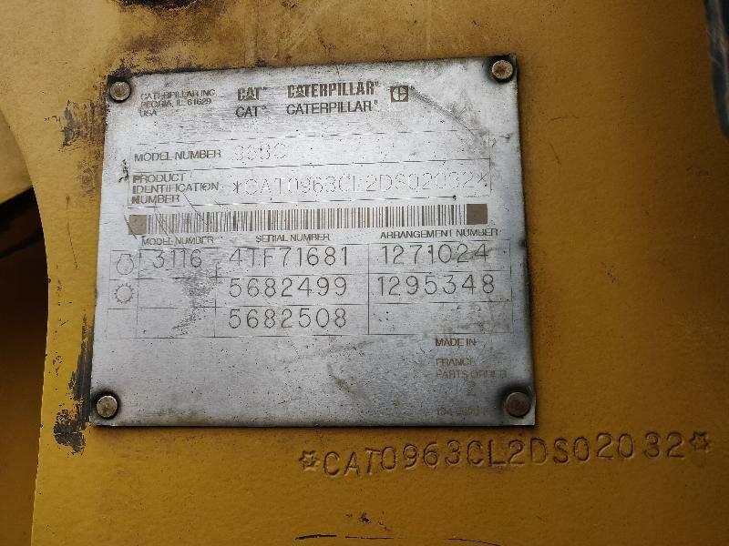 Track loader CATERPILLAR 963C - Codimatra<br />