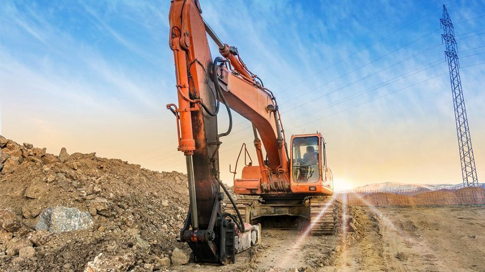 Focus on the different types of excavators and their equipment