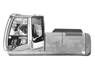 High frame of machine for KOBELCO SK135