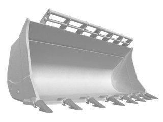 Loader bucket for JCB 416HT