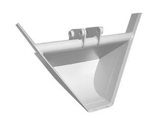 Trapezoidal bucket for POCLAIN 61