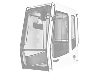 Cabin structure for CASE WX170
