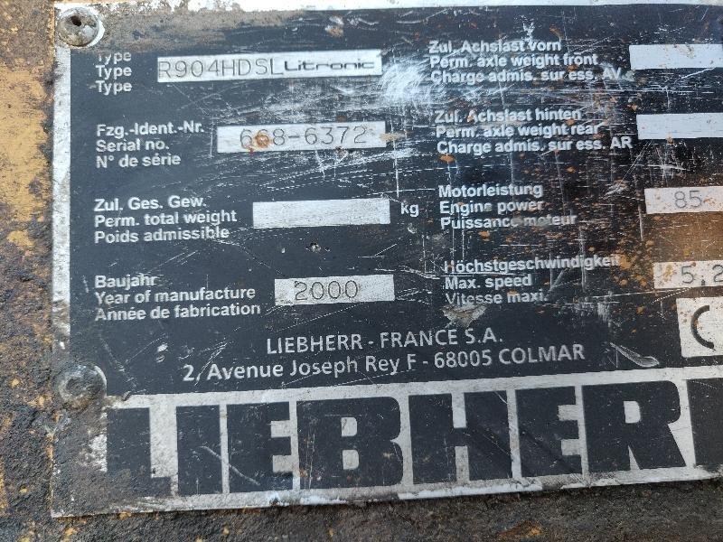 Tracks excavator LIEBHERR R904HDSL