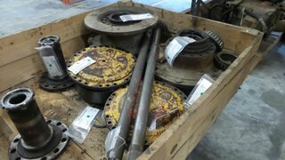 Wheel shaft for HANOMAG 44C